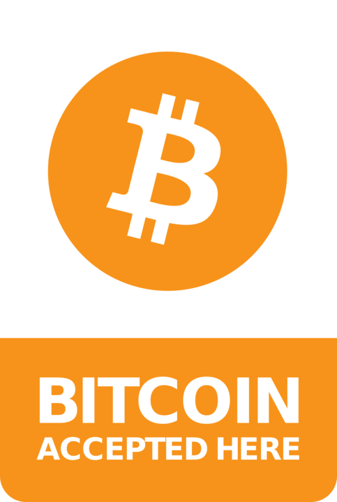You can pay with Bitcoin